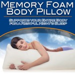 Memory Foam Body Pillow- NEW!