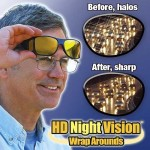 HD Night Vision Wrap Arounds- BACK IN STOCK!